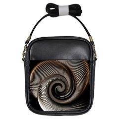 Abstract Background Curves Girls Sling Bags