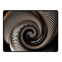 Abstract Background Curves Fleece Blanket (small)