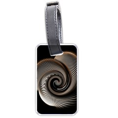 Abstract Background Curves Luggage Tags (Two Sides)
