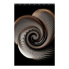 Abstract Background Curves Shower Curtain 48  X 72  (small)