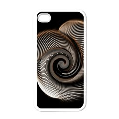 Abstract Background Curves Apple Iphone 4 Case (white)