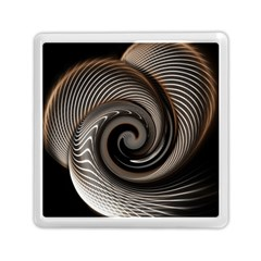 Abstract Background Curves Memory Card Reader (square)