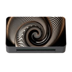 Abstract Background Curves Memory Card Reader With Cf