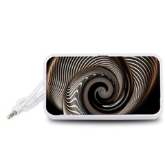 Abstract Background Curves Portable Speaker (white)