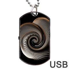 Abstract Background Curves Dog Tag Usb Flash (two Sides)