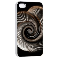 Abstract Background Curves Apple Iphone 4/4s Seamless Case (white)