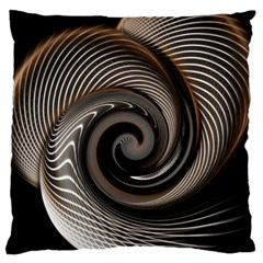 Abstract Background Curves Large Cushion Case (two Sides)