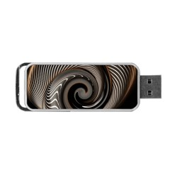 Abstract Background Curves Portable Usb Flash (two Sides)
