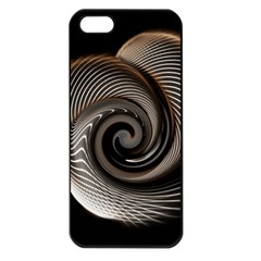 Abstract Background Curves Apple Iphone 5 Seamless Case (black)