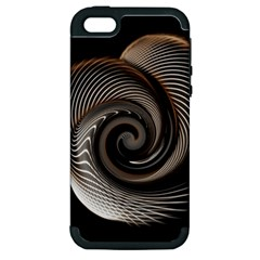 Abstract Background Curves Apple Iphone 5 Hardshell Case (pc+silicone)