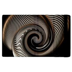 Abstract Background Curves Apple iPad 3/4 Flip Case
