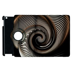 Abstract Background Curves Apple Ipad 2 Flip 360 Case