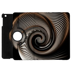 Abstract Background Curves Apple Ipad Mini Flip 360 Case