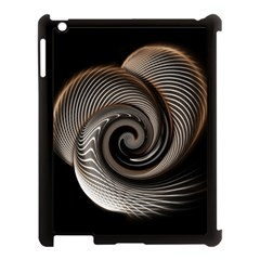 Abstract Background Curves Apple Ipad 3/4 Case (black)