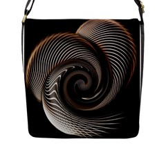 Abstract Background Curves Flap Messenger Bag (l)