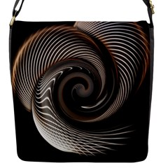 Abstract Background Curves Flap Messenger Bag (s)
