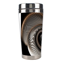 Abstract Background Curves Stainless Steel Travel Tumblers