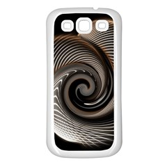 Abstract Background Curves Samsung Galaxy S3 Back Case (white)