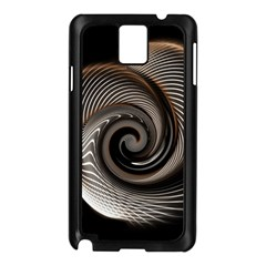 Abstract Background Curves Samsung Galaxy Note 3 N9005 Case (black)