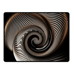 Abstract Background Curves Double Sided Fleece Blanket (small)