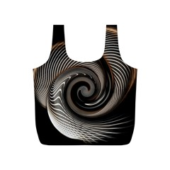 Abstract Background Curves Full Print Recycle Bags (s)