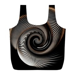 Abstract Background Curves Full Print Recycle Bags (l)