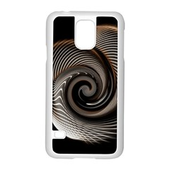 Abstract Background Curves Samsung Galaxy S5 Case (white)