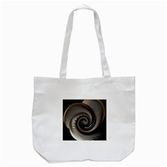 Abstract Background Curves Tote Bag (white)