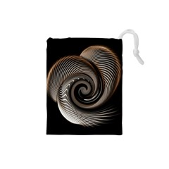 Abstract Background Curves Drawstring Pouches (small)
