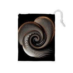 Abstract Background Curves Drawstring Pouches (medium)