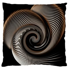 Abstract Background Curves Large Flano Cushion Case (two Sides)