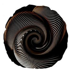 Abstract Background Curves Large 18  Premium Flano Round Cushions