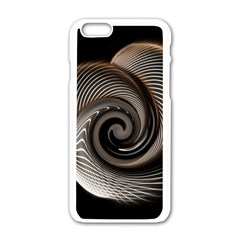 Abstract Background Curves Apple iPhone 6/6S White Enamel Case