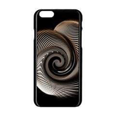 Abstract Background Curves Apple Iphone 6/6s Black Enamel Case