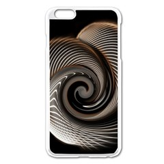 Abstract Background Curves Apple iPhone 6 Plus/6S Plus Enamel White Case