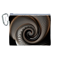 Abstract Background Curves Canvas Cosmetic Bag (L)