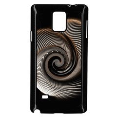 Abstract Background Curves Samsung Galaxy Note 4 Case (Black)