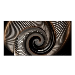 Abstract Background Curves Satin Shawl