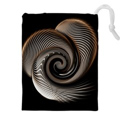 Abstract Background Curves Drawstring Pouches (xxl)