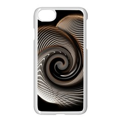 Abstract Background Curves Apple Iphone 7 Seamless Case (white)