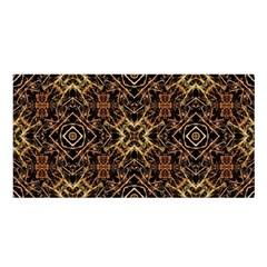 Tribal Geometric Print Satin Shawl
