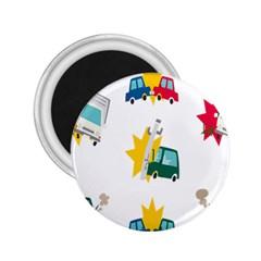 Accident Crash Car Cat Animals 2.25  Magnets