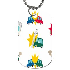Accident Crash Car Cat Animals Dog Tag (Two Sides)