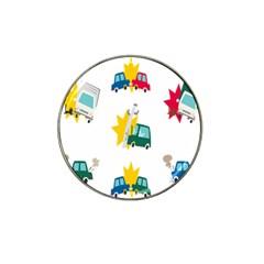 Accident Crash Car Cat Animals Hat Clip Ball Marker