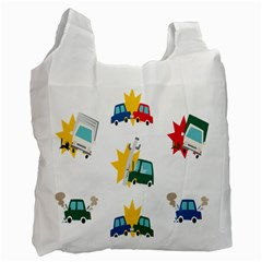 Accident Crash Car Cat Animals Recycle Bag (One Side)