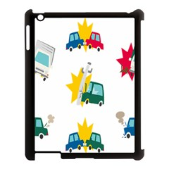 Accident Crash Car Cat Animals Apple iPad 3/4 Case (Black)
