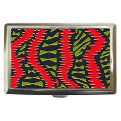 African Fabric Red Green Cigarette Money Cases