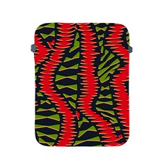 African Fabric Red Green Apple Ipad 2/3/4 Protective Soft Cases
