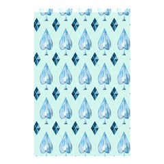 Ace Hibiscus Blue Diamond Plaid Triangle Shower Curtain 48  x 72  (Small)