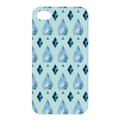 Ace Hibiscus Blue Diamond Plaid Triangle Apple iPhone 4/4S Hardshell Case